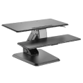 Gas Spring Sit-Stand Desktop Workstation Laptop Modern MDF Workstation