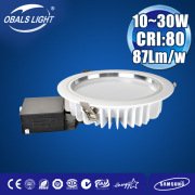 30W led downlight smd samsung chip zhongshan factory