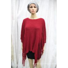 Женщины новая мода акриловые трикотажные Осень Зима пончо шаль (YKY4500)