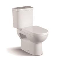 065A WC de cerámica de dos piezas con tapa del armario de PP de lento