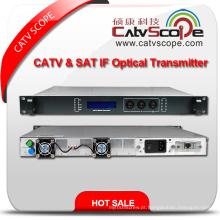 Fornecedor Profissional Alta Performance 1u CATV & Sat Se Transmissor Óptico
