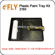 High Quality Plastic Paint tray Kit roller brush