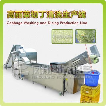 Línea de producción de col y mango