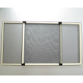 Vertical roller screen window with fiberglass net
