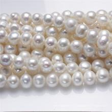 11-12мм Большой натуральный натуральный пресноводный жемчуг ожерелье Strand