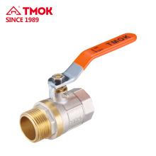 Válvula de bola de latón con bola de latón PTFE de buena calidad en china yuhuan