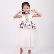 new design Jingling Bell printed high low dress baby girl dress