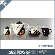 15pcs Porzellanteeset mit Goldlinie Abziehbild Gold überzogener Teecupsatz