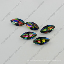 7*15mm Boat Shape Point Back Loose Crystal Beads (DZ-3017)