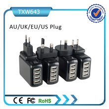 Rcm Approved 4 USB 4.2A Universal Plugs Wall Charger