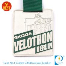 Custom Cheap Metal Running Antique Gold Medal Medallion for Promotion