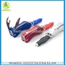 Bolígrafo plástico plegable de múltiples funciones de la herramienta