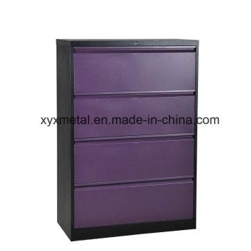 4 Drawer Lateral Steel Filing Cabinet/4 Drawer Metal Storage Cabinet