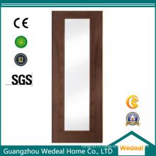 Высокое Качество Остеклением Заподлицо Деревянные Изготовление Шпонированных Дверей Из Китая