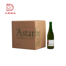 Bonne qualité taille personnalisée bon marché vin bouteille en papier emballage boîte