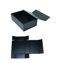Black High-end Clothes Packaging Folding Box dengan Magnet