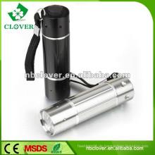 9 führte Aluminium-Material mächtigsten LED-Taschenlampe Taschenlampe