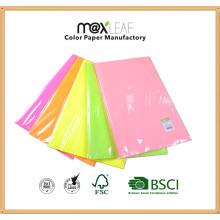 5 colores mezclados color fluorescente de papel de copia offset de papel fotográfico de impresión
