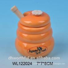 Frasco de miel de cerámica de tamaño pequeño de 150 ml