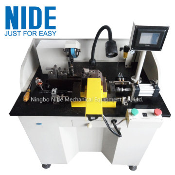 High speed electric motor armature commutator skimmer machine