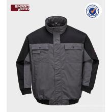 revestimento piloto impermeável & respirável do workwear da segurança do revestimento do bombardeiro do inverno dos homens do revestimento