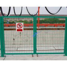 Puerta de malla de alambre soldada con autógena y cerca para la cerca ferroviaria