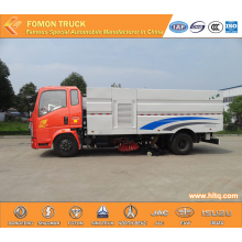 HOWO 4X2 multifunctional vacuum road sweeper truck