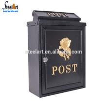 Boîte à courrier murale extérieure en acier moulé sous pression