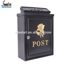 Die casting outdoor steel wall mounted post box