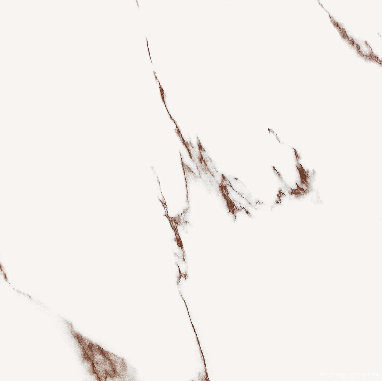 Simple White Marble Pattern Polished Tile