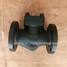 Válvula de retención de elevación del extremo de conexión de brida de acero forjado estándar DIN
