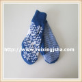 Winter knitted gloves with Jacquard Weave