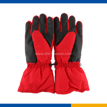 Electric Heated Ski Gloves Red Color