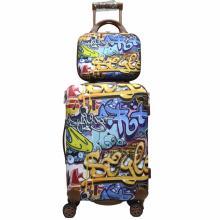 Jogo de bagagem do trole de EVA com impressão de moda