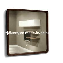 Espelho de moldura de madeira do banheiro estilo moderno (SM-M01)