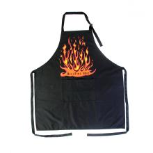 imprint logo BBQ black bib apron