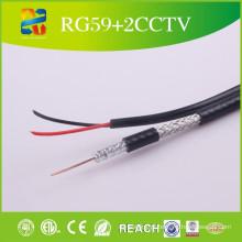 Rg59 + 2 cabos de cabo coaxial