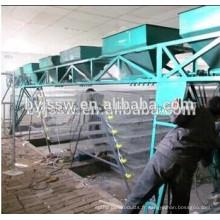 Le fil de fer en métal et la cage d'élevage galvanisée de caille de fil