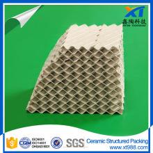 Embalagem de torre de coluna de destilação de embalagem de cerâmica estruturada