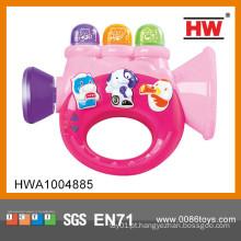 Hot Venda trompete de brinquedo do bebê com trompete de plástico de música