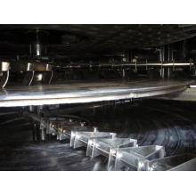Secador continuo de la placa de la serie PLG 2017, transportador de los SS industrial, secador vertical del fango