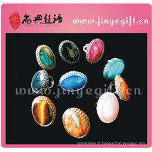 Artesanato de mão Shangdian Cultral Crochet Big Gemstone Ring