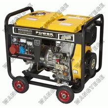 Groupe électrogène diesel avec 5.5kw maximale en sortie, adapté à la veille d'urgence et à la maison utiliser