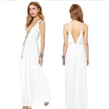 OEM Mulheres Roupas 2015 Long Sleeve Moda Maxi Dress