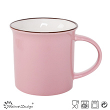 Nouvelle tasse de porcelaine d'os de glaçage de couleur