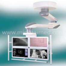 Medizinischer Anhänger mit mehreren Bildschirmen