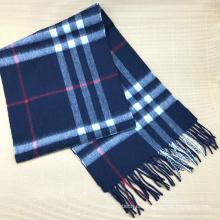 Bufanda de cachemir de cuadros escoceses blancos de la mejor calidad