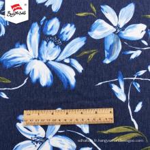 Robe en gros en tissu polyester imprimé personnalisé