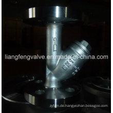 Carbon Stahl Flansch Ende Y-Strainer RF