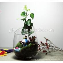 Vaso de vidro do vaso de flor de cristal do vaso da forma para a decoraço da tabela